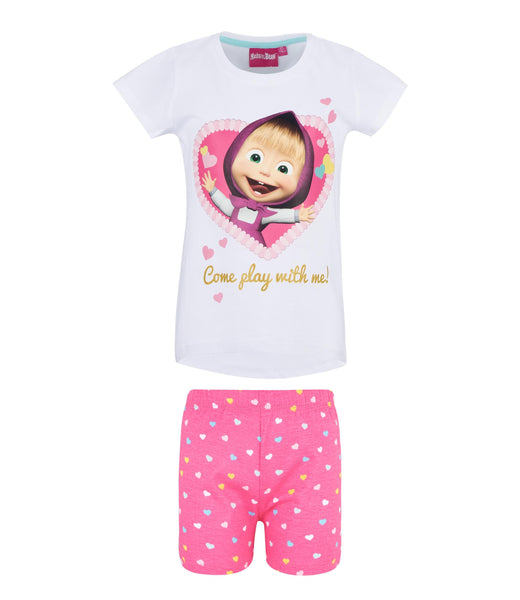 Masha and The Bear Pyjamas - White