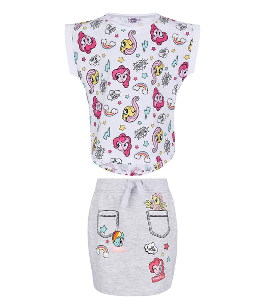 Girls T-Shirt & Skirt My Little Pony - White