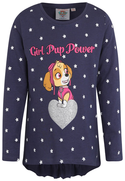 Girls Long Sleeve T-Shirt Paw Patrol - Navy Blue
