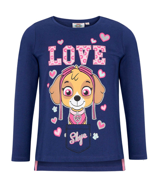 Girls Long Sleeve T-Shirt Paw Patrol - Blue