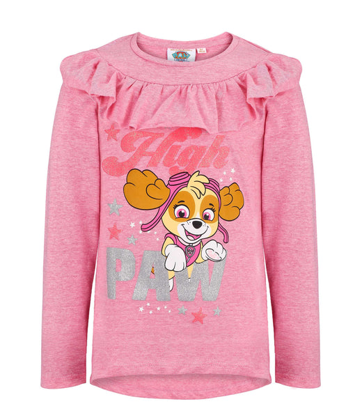 Girls Long Sleeve T-Shirt Paw Patrol - Fuchsia