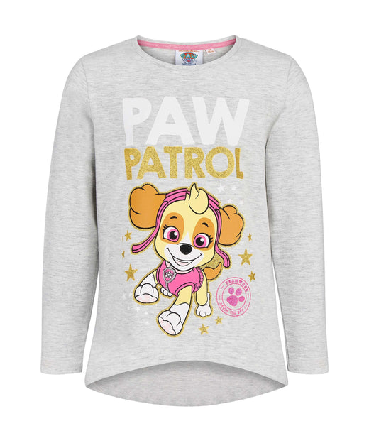 Girls Long Sleeve T-Shirt Paw Patrol - Grey
