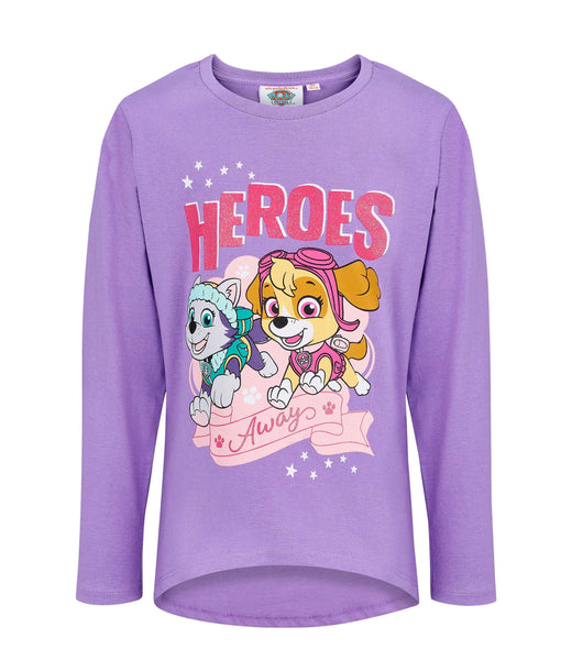 Girls Long Sleeve T-Shirt Paw Patrol - Purple