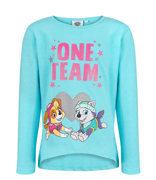 Girls Long Sleeve T-Shirt Paw Patrol - Turquoise
