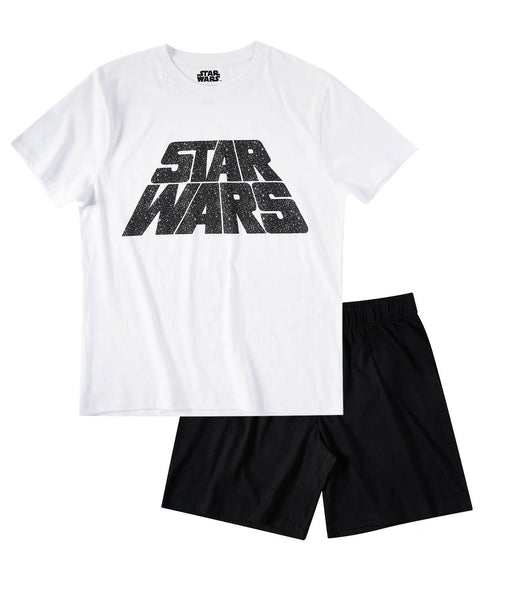 Star Wars Men's Short Sleeve Pyjama - White