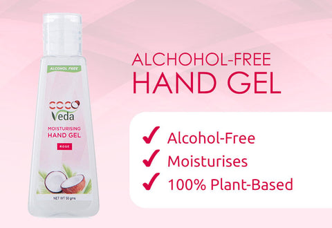 Alcohol-free Moisturizing Hand Gel - Rose