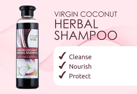 Virgin Coconut Herbal Shampoo