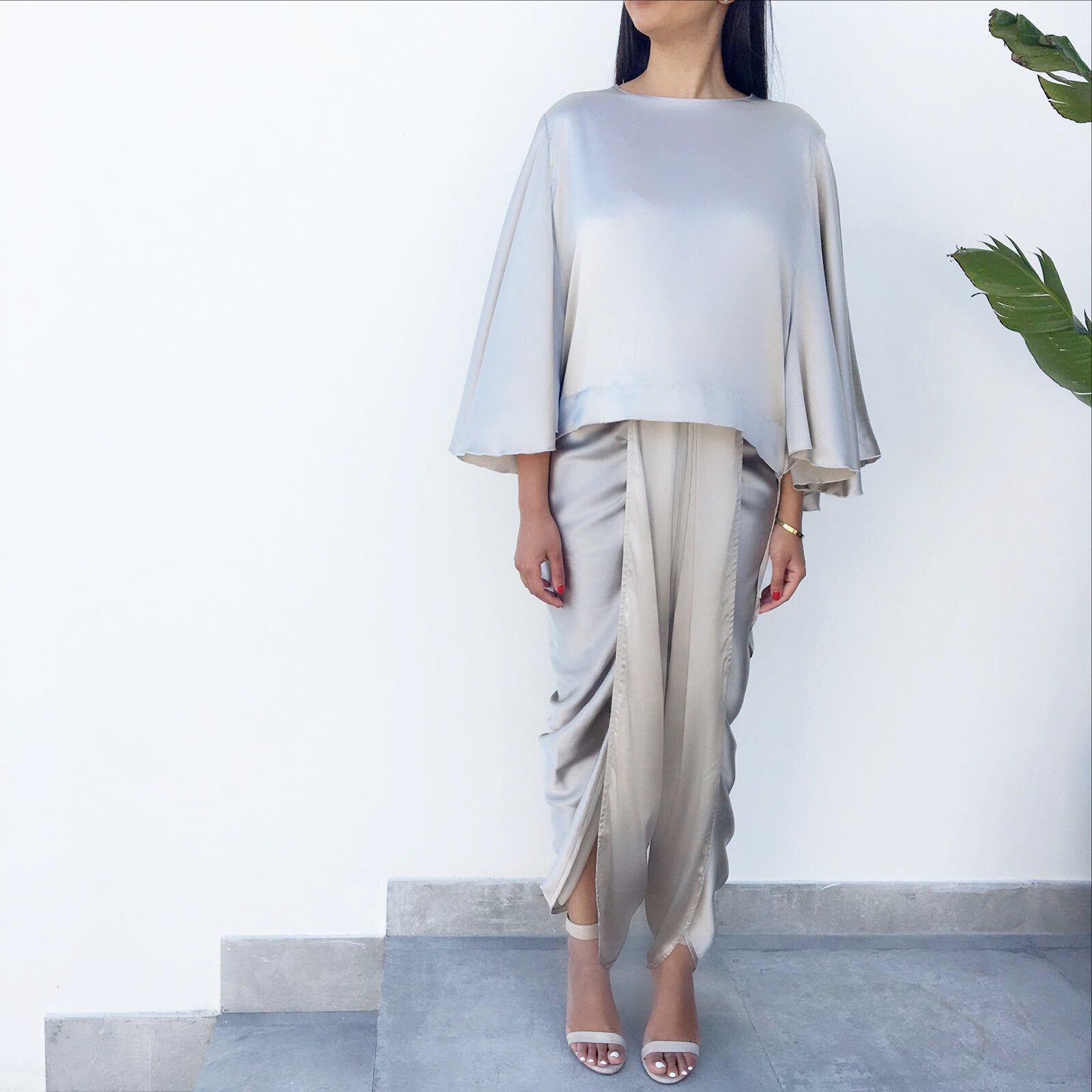 Qabeela SS17 Silk Dhoti Drape  Evening Trousers