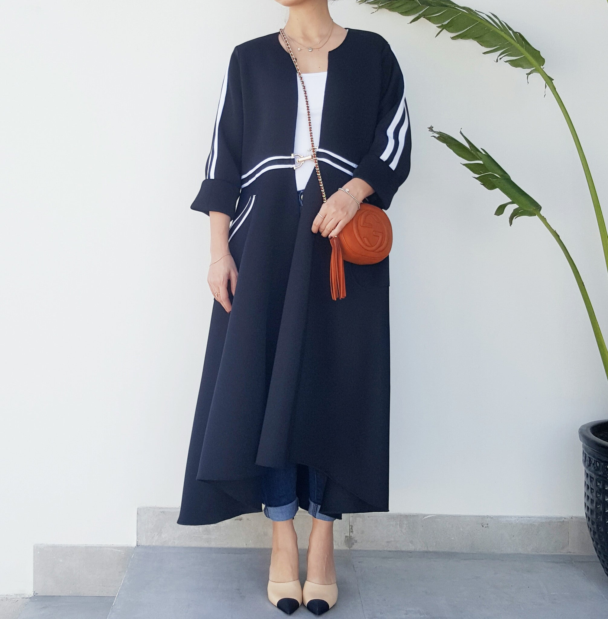 "SPORTSLUXE  ""PARIS "" Graduated Abaya"