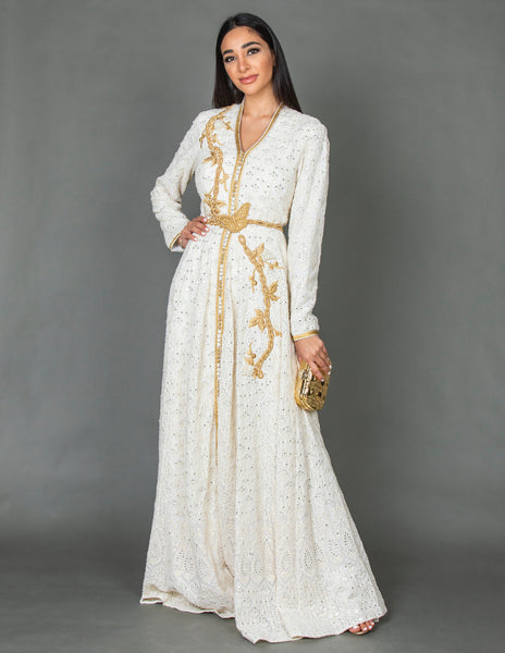 SS20 MOROCCAN EMBELLISHED BRIDAL DRESS
