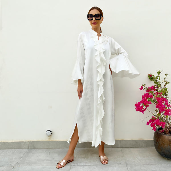 RAM21 OFF WHITE AMAL SUMMER SHIRT DRESS