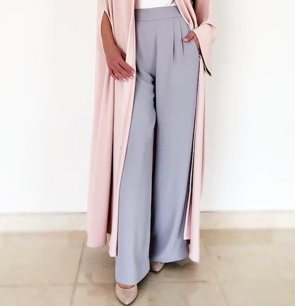 AW18 ELEGANT  WIDE LEG  CREPE TROUSERS