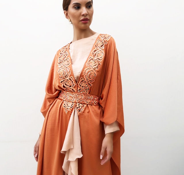 AW19 ANDALUSIA TERACOTTA  KAFTAN OUTFIT