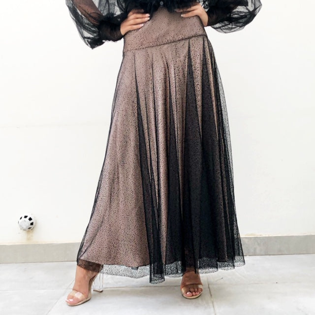 AW19 TULLE MAXI SKIRT