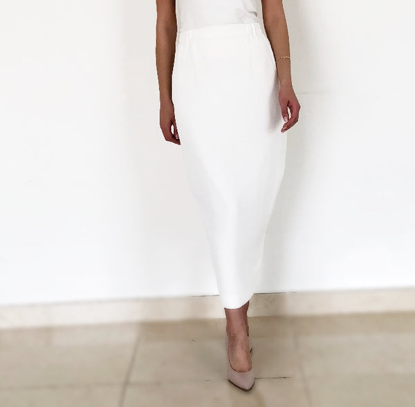 AW18 OFF-WHITE VERSATILE LONG PENCIL SKIRT