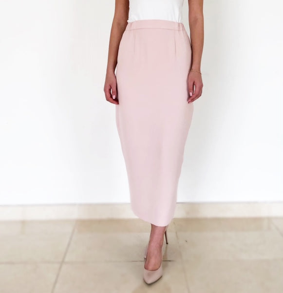 AW18 BLUSH VERSATILE LONG PENCIL SKIRT