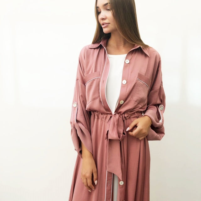 AW18 ROSE SHIRT DRESS