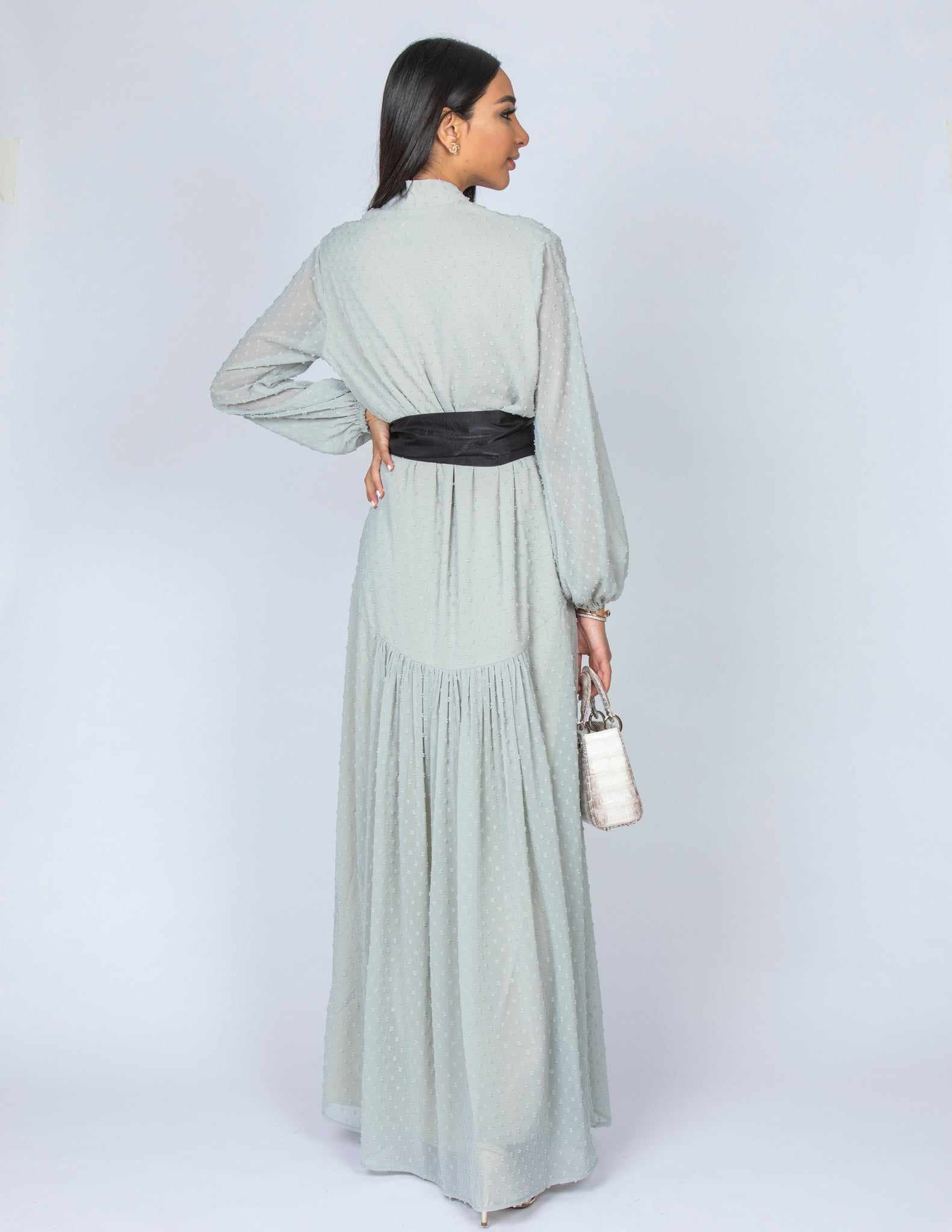 SS20 LAILA DROP WAIST CHIFFON DRESS