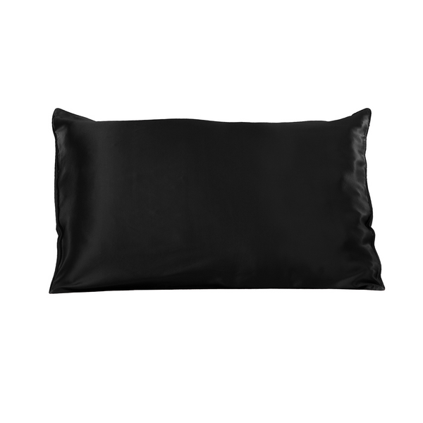 The Hair & Skin Silk Pillow Case - Black