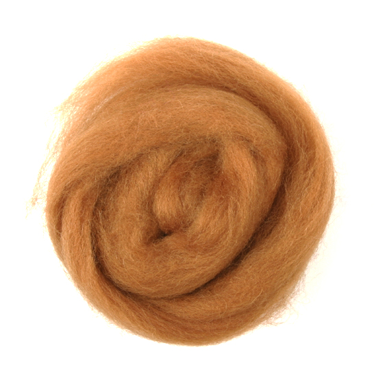 Natural Wool Roving: 10g: Beige