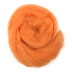 Natural Wool Roving: 10g: Orange