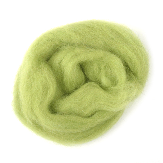 Natural Wool Roving: 10g: Pistachio