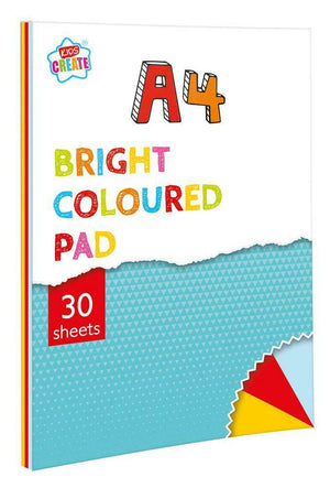 Kids Create 30 Sheet A4 Bright Paper Pad