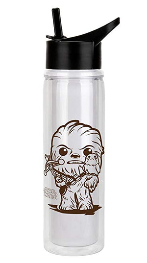 POP! HOME - Funko Star Wars Ep8 Chewbacca & Porg 20oz Water Bottle