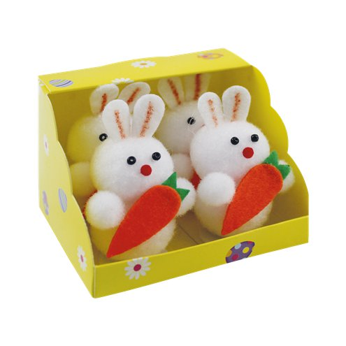Bunnys With Carrot 4 Pack
