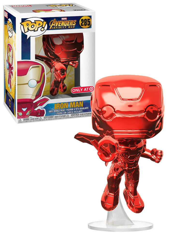POP! EXCLUSIVE Marvel: Avengers Infinity War: Iron Man Red Chrome