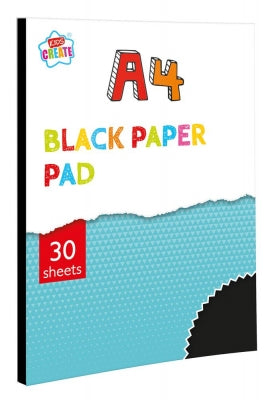 Kids Create 30 Sheet A4 Black Paper Pad