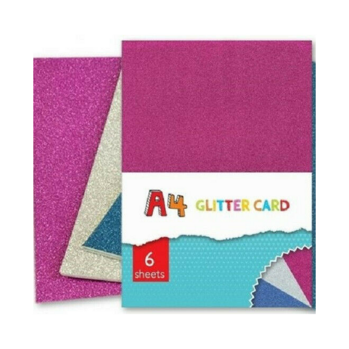 Kids Create A4 Glitter Card - 6pk