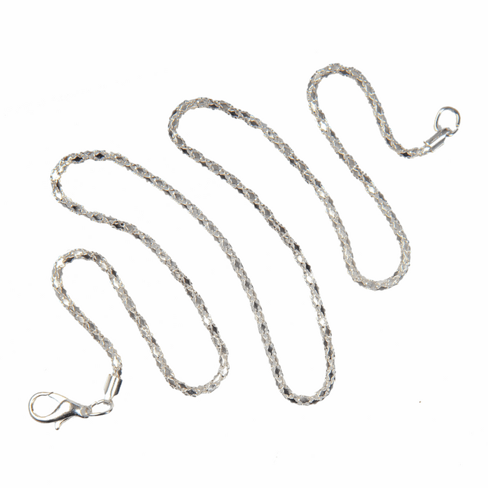 Trimits Fancy Necklace Chain with Clasp: Silver Plated