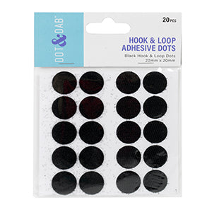 Dot and Dab Adhesive Hook & Loop Dots - 20mm
