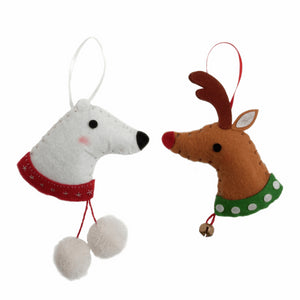 Felt Decoration Kit: Deer & Polar Bear