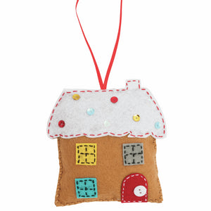 Felt Decoration Kit: Gingerbread House