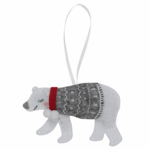 Felt Decoration Kit: Polar Bear