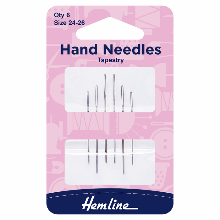 Hemline Hand Sewing Needles: Tapestry: Size 24-26