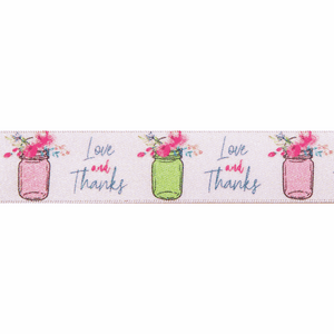 Ribbon: Love & Thanks: 25mm
