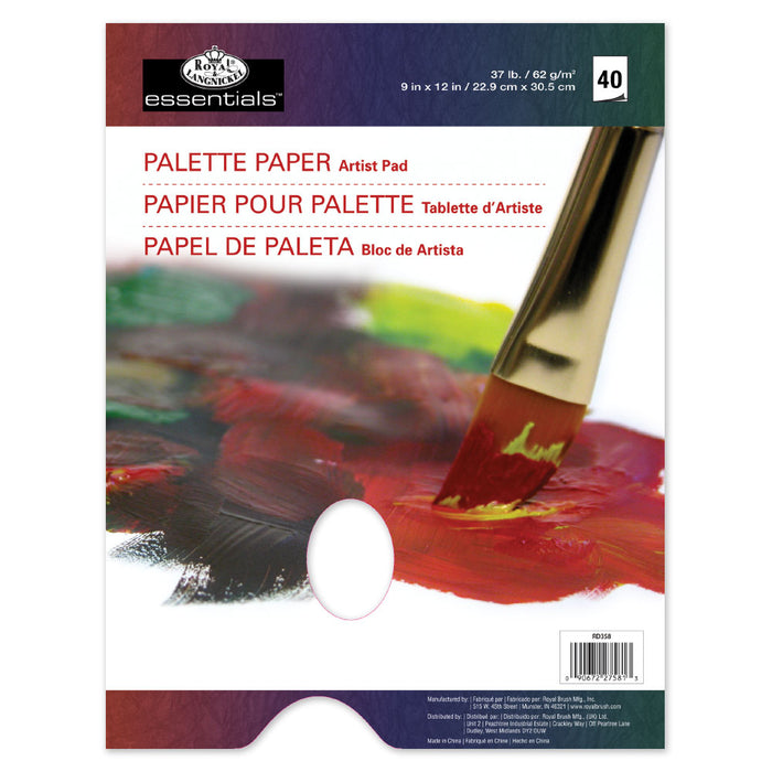 "Royal & Langnickel 9x12"" Artist Pad - Palette Paper with Hole"