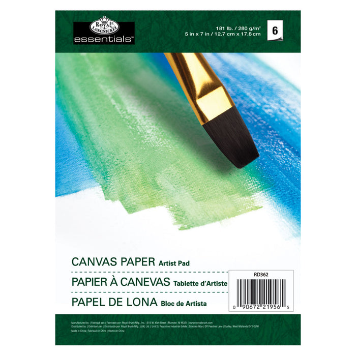 "Royal & Langnickel 5x7"" Artist Pad - Canvas Paper"