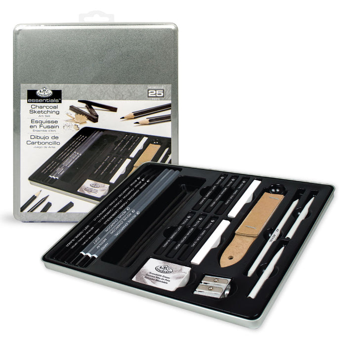 Royal & Langnickel Charcoal Drawing Art Set - 25pc Tin