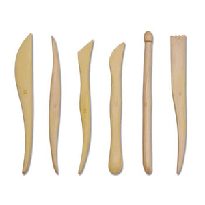 "Royal & Langnickel 6"" Wooden Sculpting Tools for Clay - 6pc"