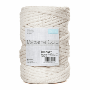 Trimits Macramé Cord 7mm x 50m - Natural