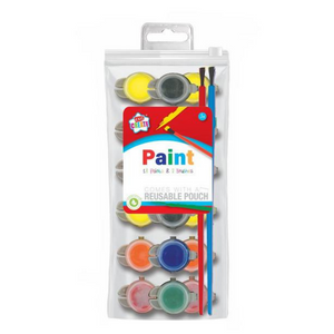 Kids Create 18 Poster Paints & 2 Brushes in Pouch