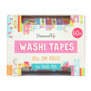 Dovecraft Washi Bright Tape Box - 20 Rolls