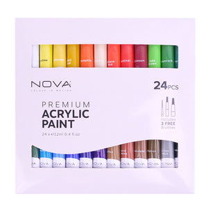 Nova Premium Acrylic Paint Set - 24pc