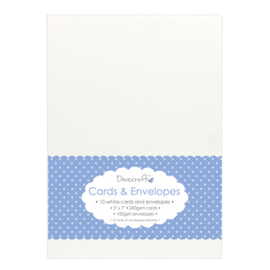 Dovecraft Cards & Envelopes - White