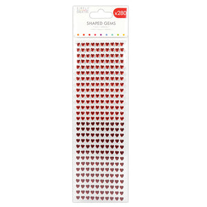 Simply Creative 6mm Heart Shaped Gems - 280pk