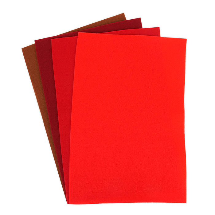 A4 Felt Sheets Multipack of 8 Sheets - Various Colours